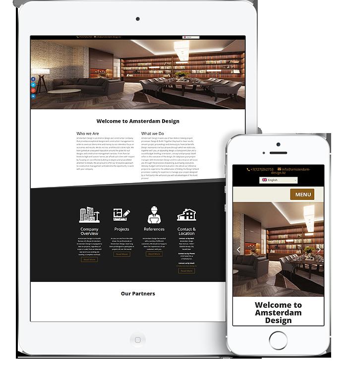 website amsterdam design tablet & iPhone